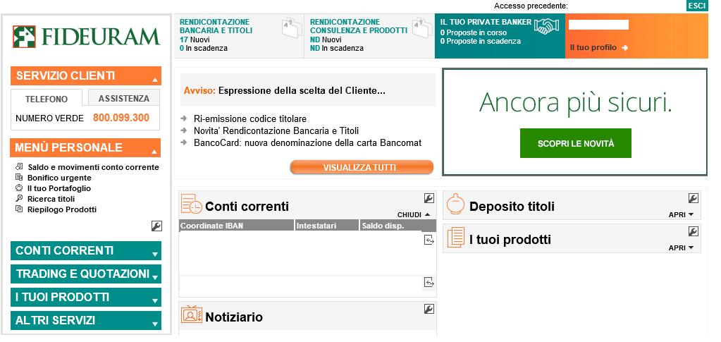 Fideuram Online Luca Ricciotti Consulente Finanziario Fideuram